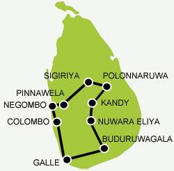carte-les-incontournables du Sri Lanka