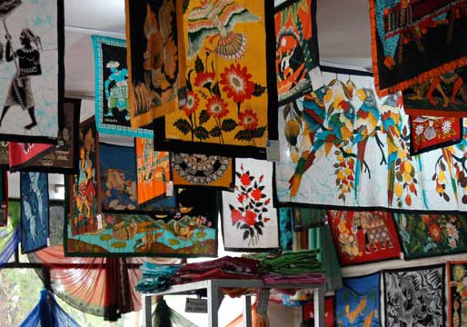 Fabrique de batiks au Sri Lanka