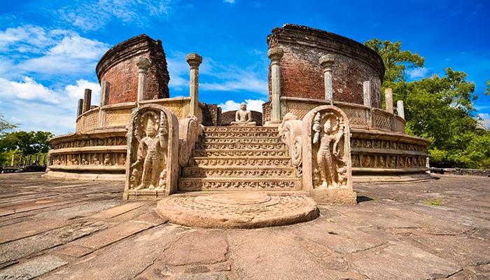 Excursion dans les ruines de Polonnaruwa